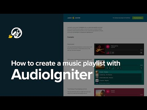 How to install AudioIgniter and create your first music playlist in WordPress