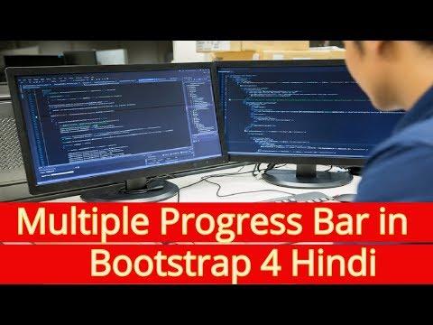 Learn Bootstrap 4 Tutorial in Hindi | Multiple Progress Bar in Bootstrap 4 Hindi