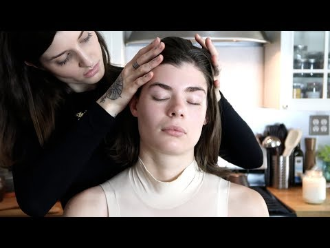VERY Relaxing ASMR Scalp and Face massage with natural oils
