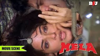 Parmeet Sethi forces Twinkle Khanna | Mela | Aamir Khan, Twinkle Khanna | Full HD
