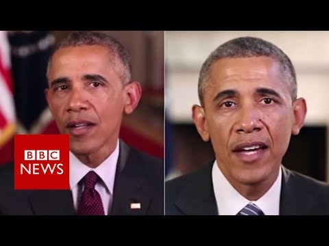 Fake Obama created using AI video tool - BBC News