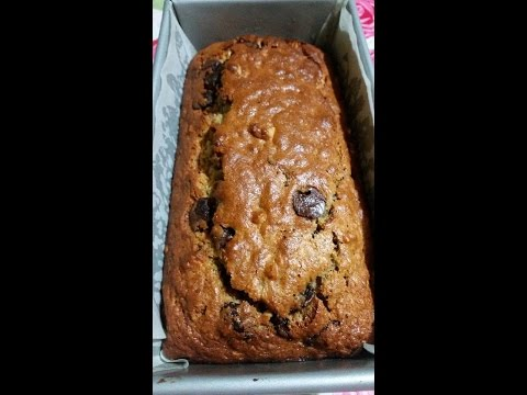 Banana Loaf Bread with Walnuts and Chocolate Chips