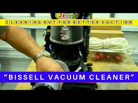 CLEANING OUT A VACUUM CLEANER