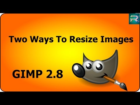 GIMP Tutorial -  Two Ways To Scale Or Resize Images.