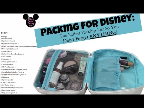 Packing for Disney | The Easiest Packing List So You Don't Forget ANYTHING!