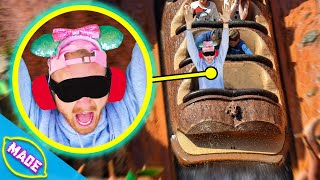 Blindfolded Guess What Disney Ride You're On Challenge!