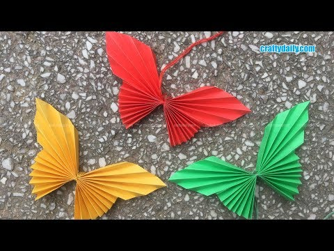 How to Make Easy Origami Paper Butterflies - Cute & Easy Butterfly DIY - Origami for Beginners