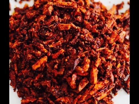BALACHUNG   SHRIMP OR PRAWN PICKLE (BALACHOO)   HOW TO MAKE PRAWN PICKLE