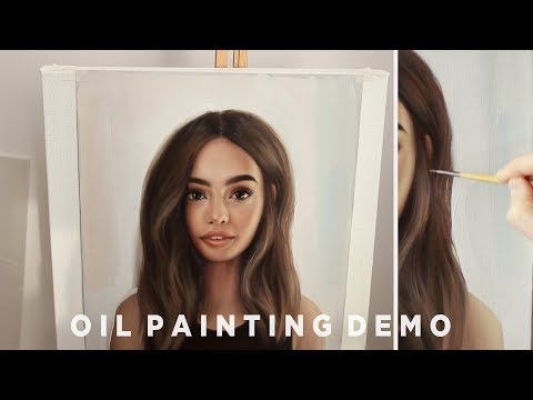 How To Paint Hair || Oil Painting Demonstration