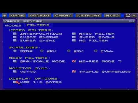 How to get the ZSNES emulator to stretch fullscreen