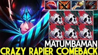 MATUMBAMAN [Phantom Assassin] Crazy Rapier Build Comeback Hard Game Dota 2