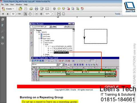 Oracle Reports 10g Tutorial in Bangla: Report Bursting