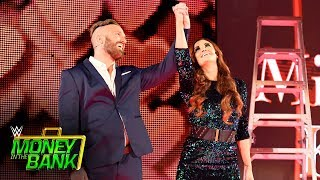 """Mike & Maria Kanellis arrive with the """"power of love"""": WWE Money in the Bank 2017 (WWE Network)"""