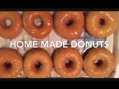 Home Made Glazed Donuts //easy Way To Make Perfect Donuts // Sugar Glaze