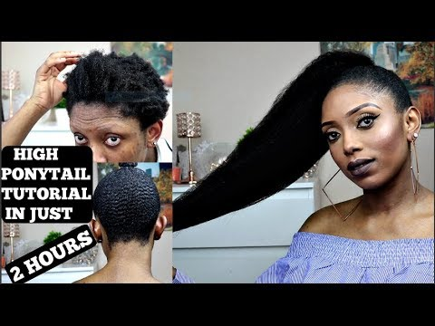 HOW TO SLEEK HIGH PONYTAIL IN JUST 2 HOURS ON SHORT NATURAL HAIR | ALI PEARL