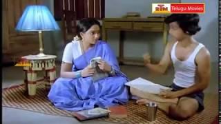 RajendraPrasad & Aruna Bathroom  Scene - Samsaram Oka Chadarangam Movie