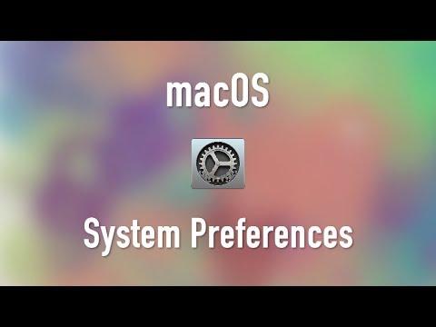 macOS: System Preferences