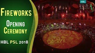 Beautiful Fireworks   PSL Opening Ceremony 2018   HBL PSL 2018   PSL