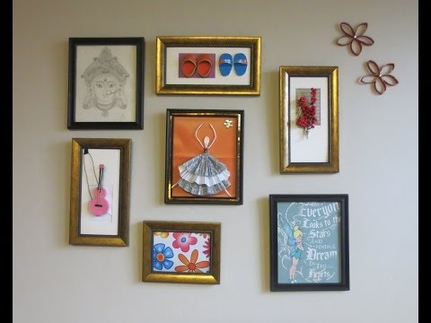 Home Decor : Tshirt graphic & 3D Wall Art Picture Frame Collage Ideas