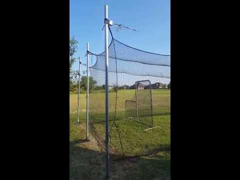 DIY batting cage cheap 40 x 12