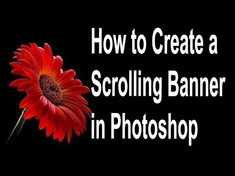 How to Create a Scrolling Banner in Photoshop ( in Tamil )