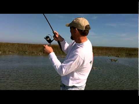 Redfish on Gulp near Charleston SC 3/2/11 Fish Call Charters