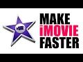 Make iMovie Faster - Delete iMovie Library Videos