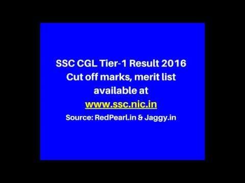 SSC CGL Tier-1 Result 2016 |  Cut off marks | merit list | Jaggy