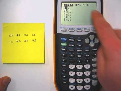 Mean Absolute Deviation on a Graphing Calculator (The Short Method)