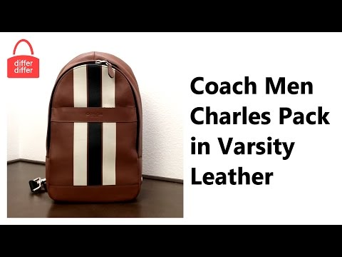 Coach Men Charles Pack in Varsity Leather 72226