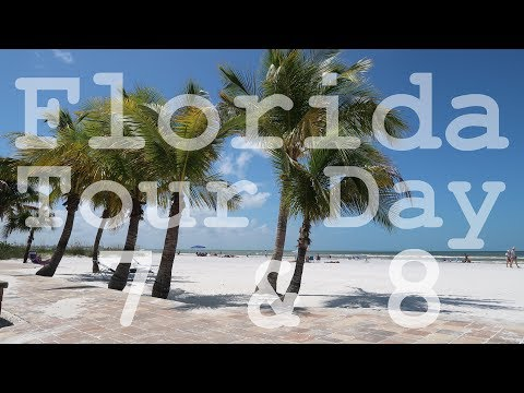 Florida Tour 2017 - Day 7 & 8 of 22 Days - Fort Myers Beach - Pool & Beach