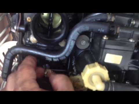 outboard carburetor water removal