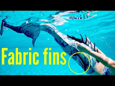 How to make a mermaid tail fin in fabric