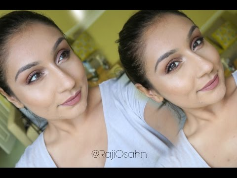 Get ready with me Trying NEW makeup ! Urban Decay all nighter foundation | Raji Osahn