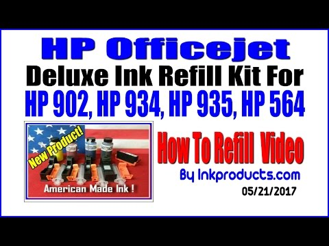 How To Refill HP 902, HP 902 XL Cartridges ( Also HP 935, HP 934 cartridges )