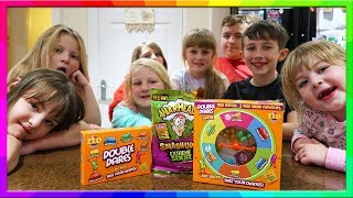 6th Birthday Sleepover with Double Dares Bean Boozled Challenge and Warhead   Hannah and Jessica