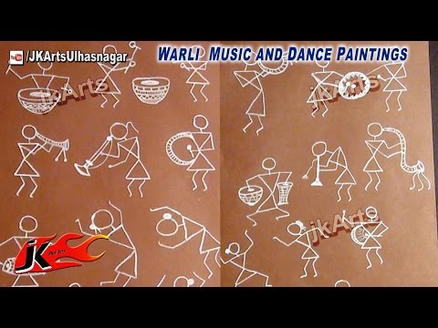 Warli Music and Dance Paintings - JK Arts 557