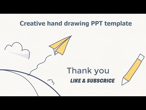 Simple and creative cute hand painted  | Template Powerpoint free download
