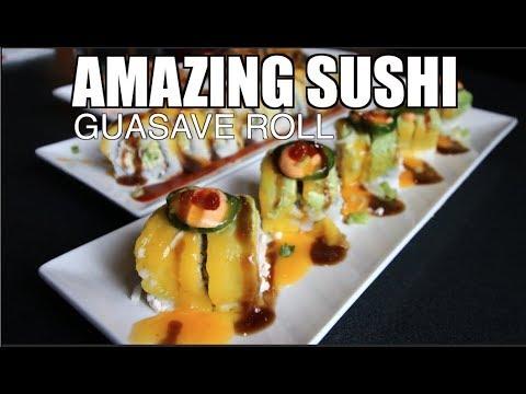 Vegan Sushi at Guasave Roll with Cesar