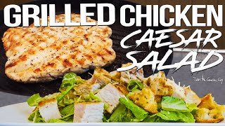 Grilled Chicken Caesar Salad for Date Night   SAM THE COOKING GUY 4K