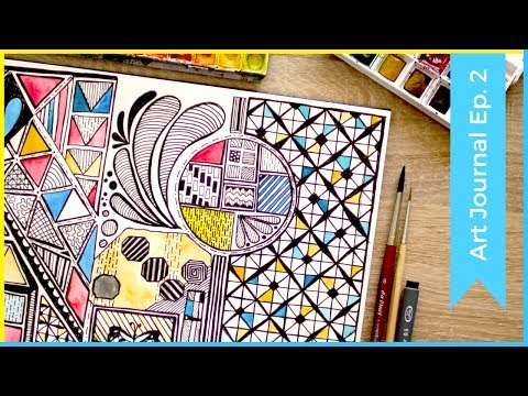 Zentangle Inspired Art Ideas, Patterns & Doodling Ideas | Art Journal Thursday Ep. 2