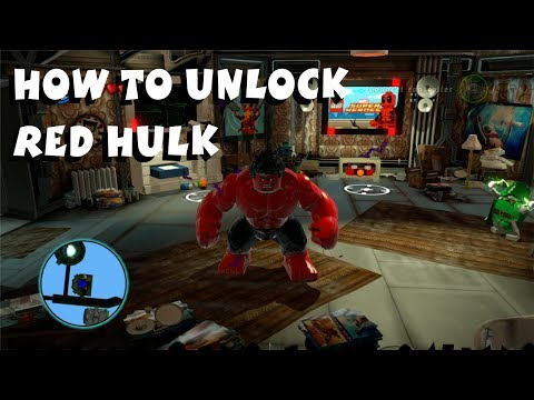 How to Unlock Red Hulk - Lego Marvel Super Heroes 1080P HD
