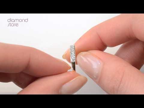 FT32-52JUA - Chloe 18K Gold 7 Stone Diamond Eternity Ring 0.30CT H/SI