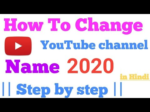 [ Hindi ] How To Change YouTube Channel Name 2018 ll Step by Step || Tech Bunch