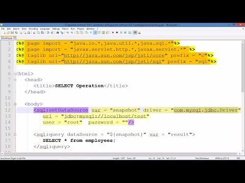 JSP with MySQL Database Connectivity