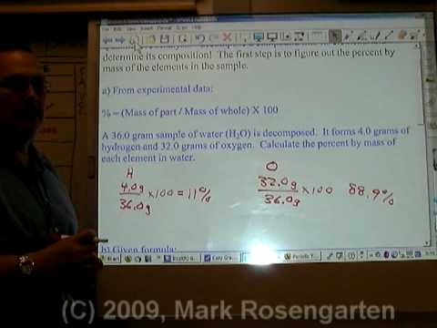 Chemistry Tutorial 5.04b:  Percent Composition By Mass