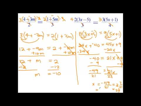 Solving equations with fractions on both sides