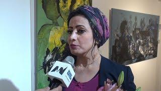 """#x202b;منى مرعي تعرض مجموعتها التاسعة من اللوحات بعنوان """"أسود مضيء"""" في بيروت#x202c;lrm;"""