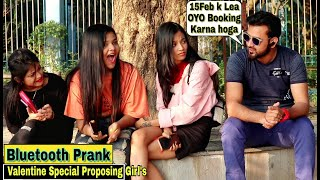 Bluetooth Prank Valentine Special - Proposing Cute Girl's  Prank In India 2020  By TCI