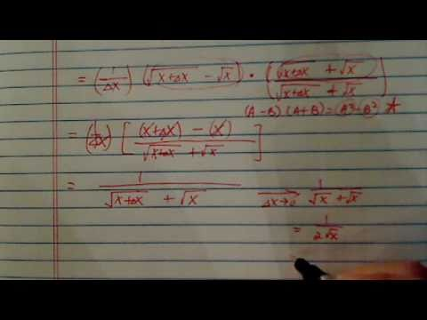 *Difference quotient [ f(x+h)-f(x)/h] -- part 3 of 3: Examples